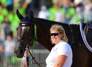 Mighty Nice with his groom Emma Ford Photo by Allen MacMillan/MacMillan Photography