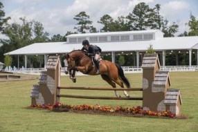 A rider competing at the Savannah College of Art and Design
