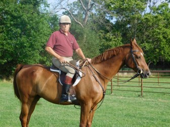 Bill, saddled up and ready to ride. Photo courtesy of Bill Sipp