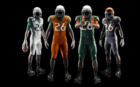 U. Miami Football Uniform