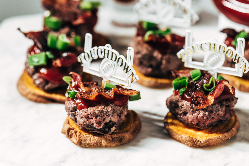 Big Game Recipe: Sweet Potato Bacon + Beef Sliders Sideline Socialite