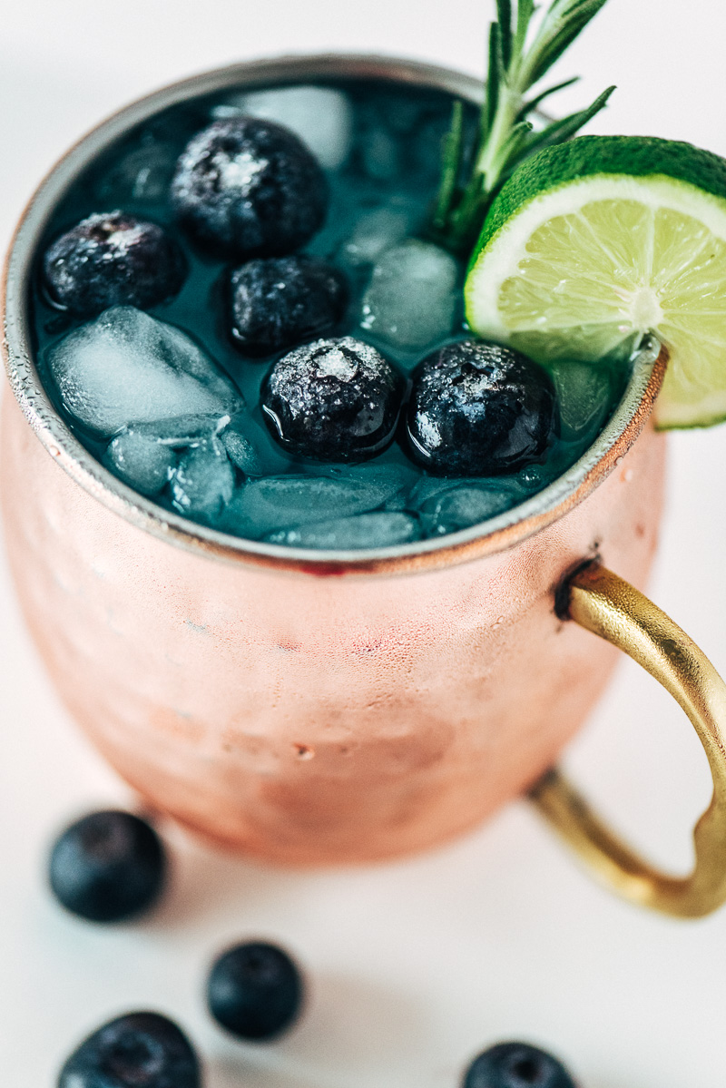 Big Game Cocktail: Blue 42 Moscow Mule Sideline Socialite