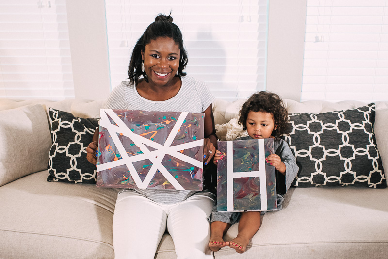 Toddler Activity: Canvas Art to Welcome New Baby Sibling involvement with new baby, toddler activities, Toddler regression with new baby