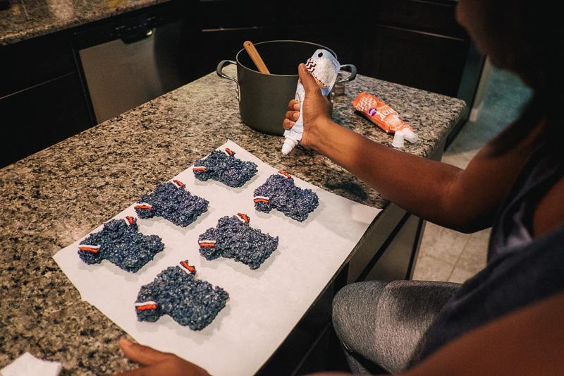 Game Day Treats: Texans Football Jersey Rice Crispy Treats