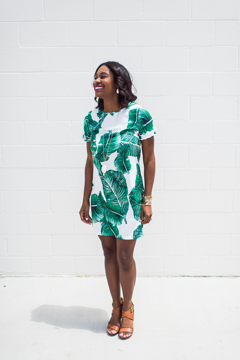 Palm Prints And Royal Wedding Thoughts Palm Print Dress