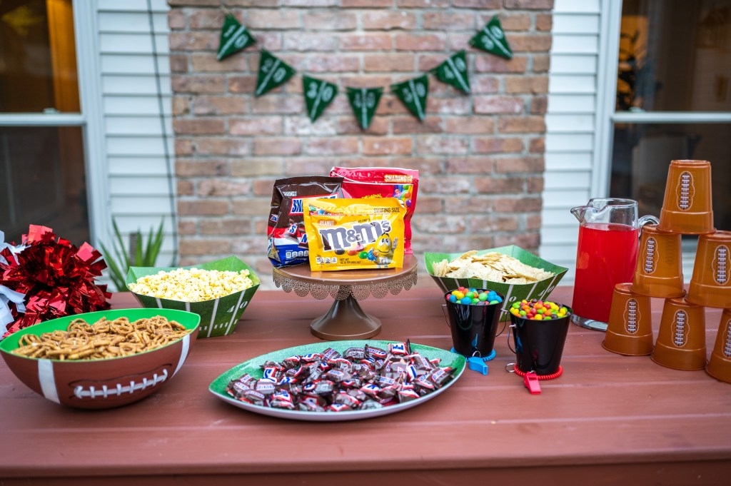 Play While You Party During The Big Game Super Bowl Party Party Games Big Game Watch Party Decor