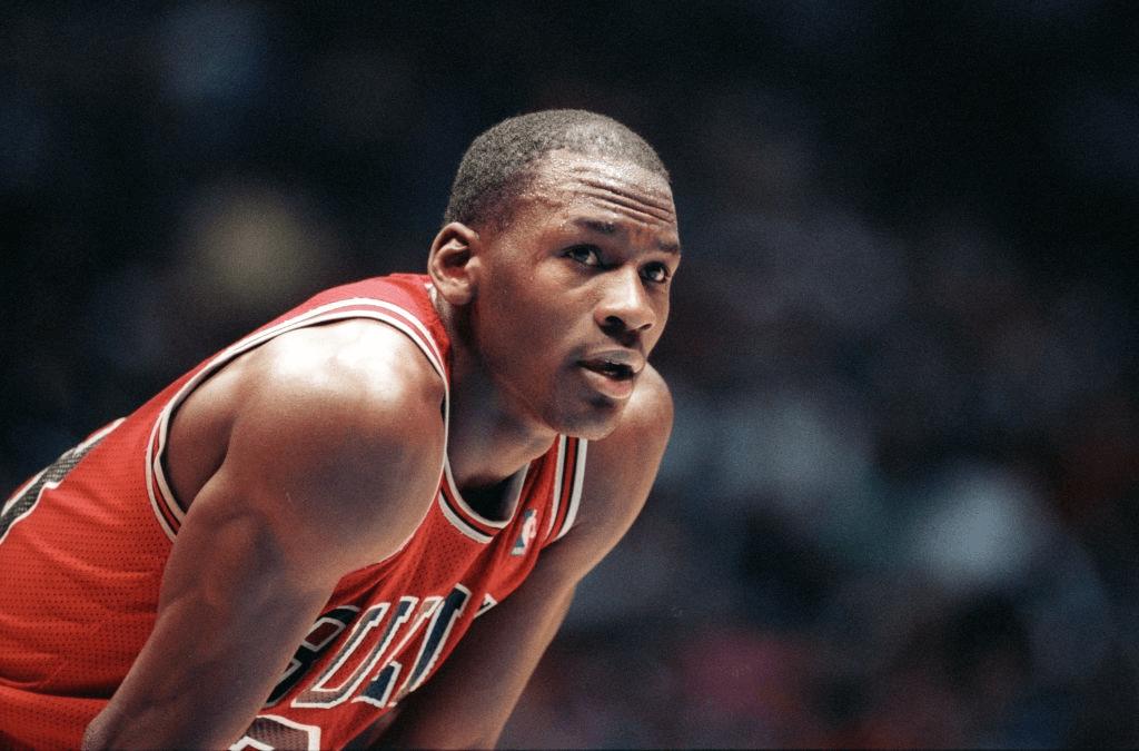 Chicago Bulls All-Star forward # 23 Michael Jordan file photos.