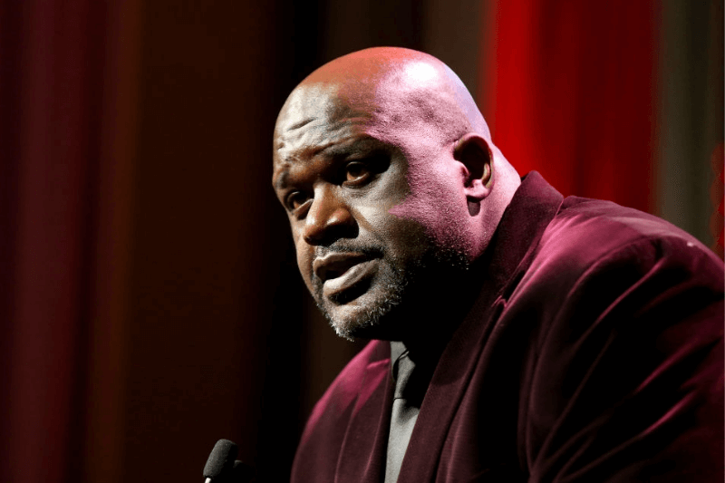 NEW YORK, NEW YORK - DECEMBER 09: Shaquile O'Neal speaks onstage during the Sports Illustrated Sportsperson Of The Year 2019 at The Ziegfeld Ballroom on December 09, 2019 in New York City. (Photo by Bennett Raglin/Getty Images for Sports Illustrated Sportsperson of the Year 2019)