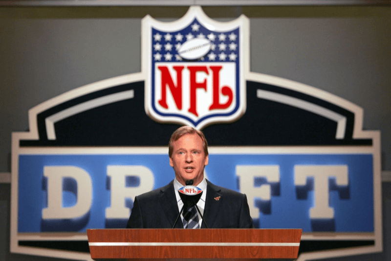 NFL Commissioner Roger Goodell during the NFL draft at Radio City Music Hall in New York, NY on Saturday, April 28, 2007