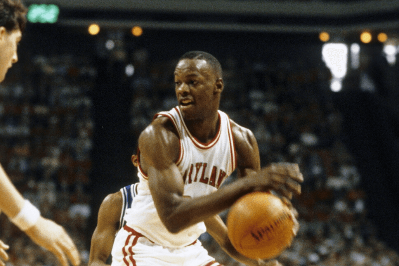 Unknown date & location, USA; FILE PHOTO; Maryland Terrapins guard (34) Len Bias in action during the 1985 season.