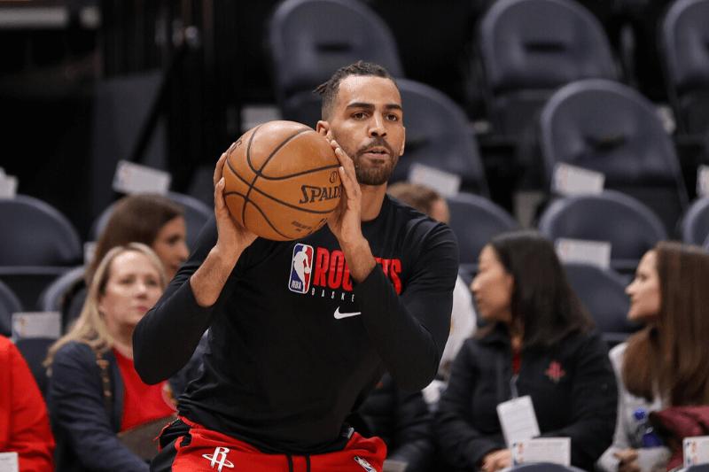 Feb 22, 2020; Salt Lake City, Utah, USA; Houston Rockets forward Thabo Sefolosha (18) warms up before the game against the Utah Jazz at Vivint Smart Home Arena