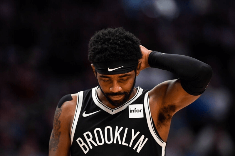 DENVER, CO - NOVEMBER 14: Kyrie Irving (11) of the Brooklyn Nets takes the court against the Denver Nuggets during the first quarter on Thursday, November 14, 2019
