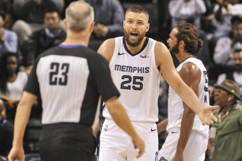 Feb 22, 2019; Memphis, TN, USA; Memphis Grizzlies forward Chandler Parsons (25) reacts during the second half against the LA Clippers at FedExForum