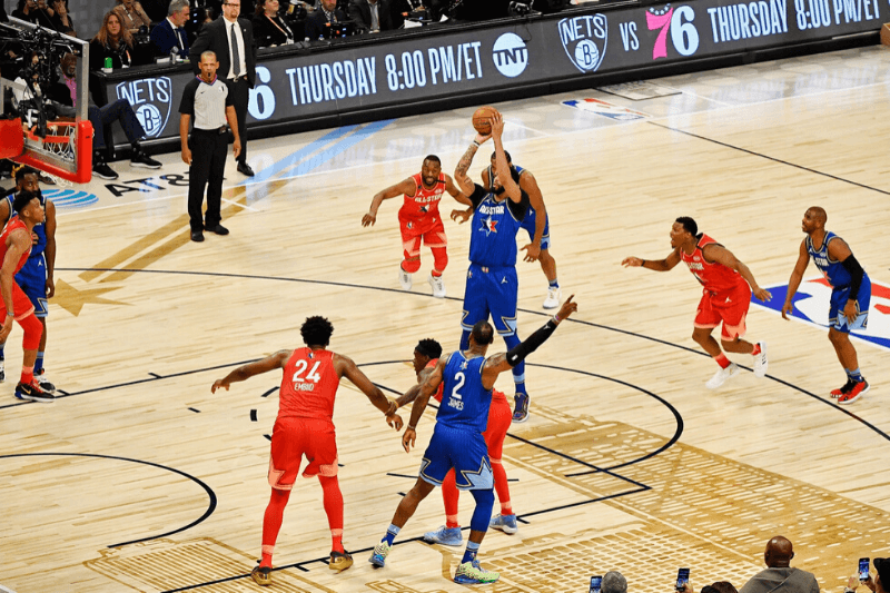Feb 16, 2020; Chicago, Illinois, USA; Team LeBron forward Anthony Davis of the Los Angeles Lakers shoots a free throw during the fourth quarter during the 2020 NBA All Star Game at United Center.
