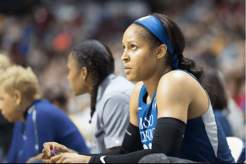 UNCASVILLE, CONNECTICUT- August 17: Maya Moore #23 of the Minnesota Lynx during the Connecticut Sun Vs Minnesota Lynx, WNBA regular season game at Mohegan Sun Arena on August 17, 2018 in Uncasville, Connecticut.