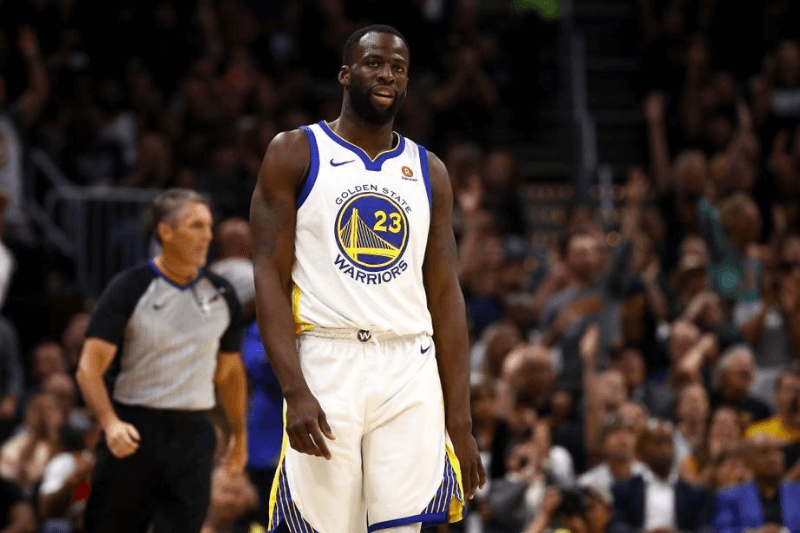 CLEVELAND, OH - JUNE 08: Draymond Green #23 of the Golden State Warriors reacts against the Cleveland Cavaliers during Game Four of the 2018 NBA Finals at Quicken Loans Arena on June 8, 2018 in Cleveland, Ohio.