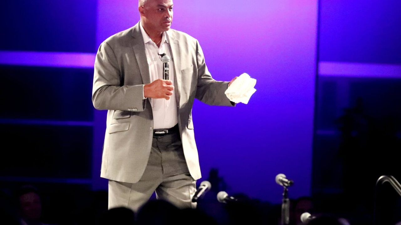 Charles Barkley speaks during the Boys & Girls Clubs of Rutherford County's 32nd Annual Stake & Burger event at MTSU on Tuesday, July 16, 2019. 20 Charles Barkley At Event