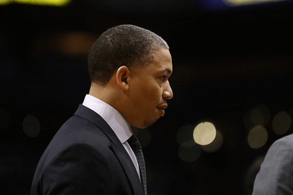 Oct 26, 2019; Phoenix, AZ, USA; Los Angeles Clippers assistant coach Tyronn Lue against the Phoenix Suns at Talking Stick Resort Arena.