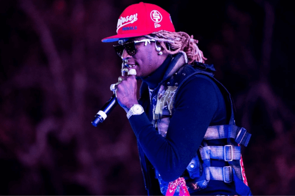 Young Thug performs during 2019 Rolling Loud LA at Banc of California Stadium on December 14, 2019 in Los Angeles, California.