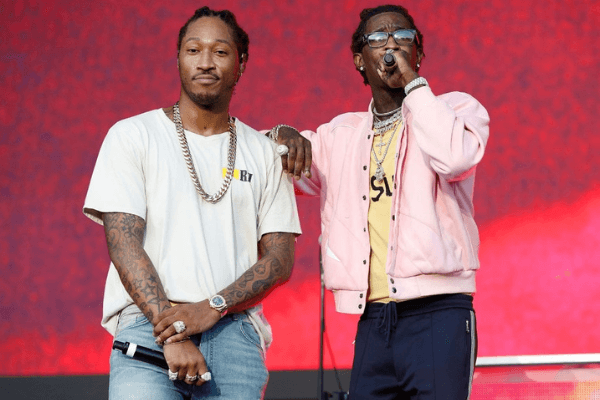 Future (L) and Young Thug perform onstage during Day 2 at The Meadows Music & Arts Festival at Citi Field on September 16, 2017 in New York City.