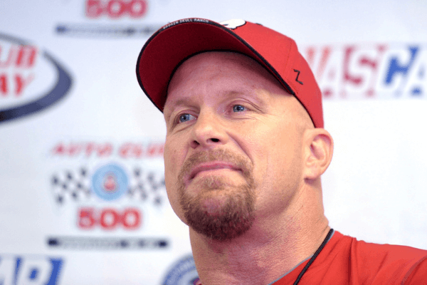 Feb 21, 2010; Fontana, CA, USA; Auto Club 500 grand marshall Steve Austin during the press conference at the Auto Club 500 at the Auto Club Speedway.