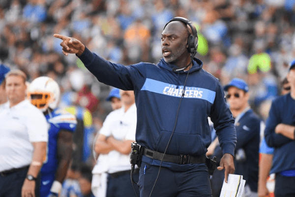 Head coach Anthony Lynn of the Los Angeles Chargers reacts during the third quarter against the Arizona Cardinals at StubHub Center on November 25, 2018 in Carson, California.