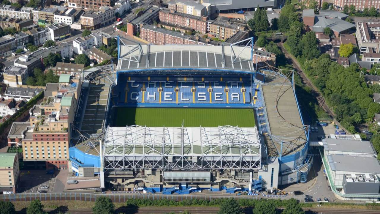 Jul 12, 2012; London, UNITED KINGDOM; Aerial view of the Stamford Bridge stadium. The venue is the home facility for the Chlesea football club of the English Premier League. Mandatory Credit: Kirby Lee/Image of Sport-USA TODAY Sports