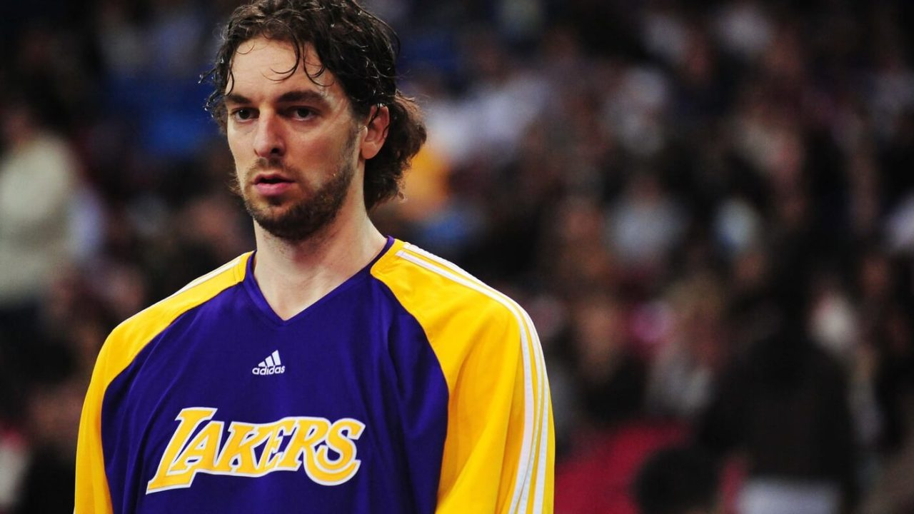 December 26, 2009; Sacramento, CA, USA; Los Angeles Lakers forward Pau Gasol (16) warms up before the game against the Sacramento Kings at Arco Arena. The Lakers defeated the Kings 112-103 in double overtime. Mandatory Credit: Kyle Terada-USA TODAY Sports
