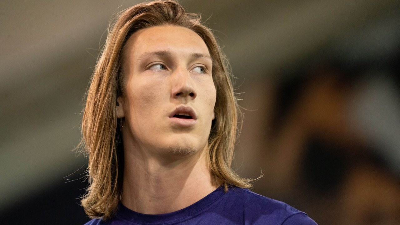 Feb 12, 2021; Clemson, SC, USA; Clemson Tigers quarterback Trevor Lawrence works out during Pro Day in Clemson, South Carolina. Mandatory Credit: David Platt/Handout Photo via USA TODAY Sports
