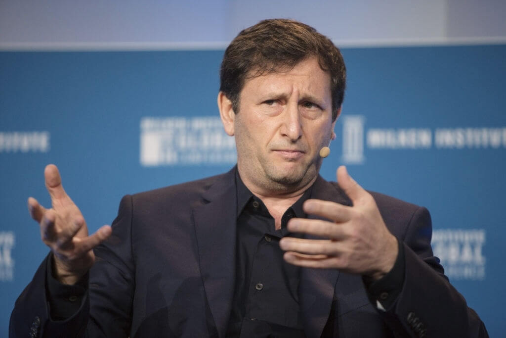 Alex Mashinsky, chief executive officer of Celsius Network, speaks during the Milken Institute Global Conference in Beverly Hills, California, U.S., on Wednesday, May 2, 2018. The conference brings together leaders in business, government, technology, philanthropy, academia, and the media to discuss actionable and collaborative solutions to some of the most important questions of our time. Photographer: Dania Maxwell/Bloomberg via Getty Images