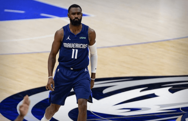 May 28, 2021; Dallas, Texas, USA; Dallas Mavericks forward Tim Hardaway Jr. (11) in action during game three between the Clippers and the Mavericks in the first round of the 2021 NBA Playoffs at American Airlines Center. Mandatory Credit: Jerome Miron-USA TODAY Sports