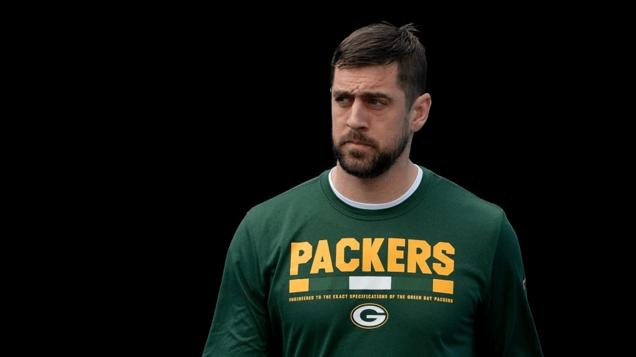 CHARLOTTE, NC - DECEMBER 17: Aaron Rodgers #12 of the Green Bay Packers warms up before their game against the Carolina Panthers at Bank of America Stadium on December 17, 2017 in Charlotte, North Carolina. (Photo by Grant Halverson/Getty Images)