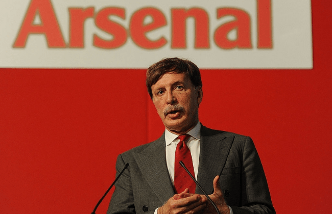 LONDON, ENGLAND - OCTOBER 27:  Arsenal director Stan Kroenke during the Arsenal AGM at Emirates Stadium on October 27, 2011 in London, England.