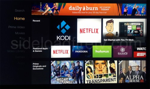 XBMC on Homescreen