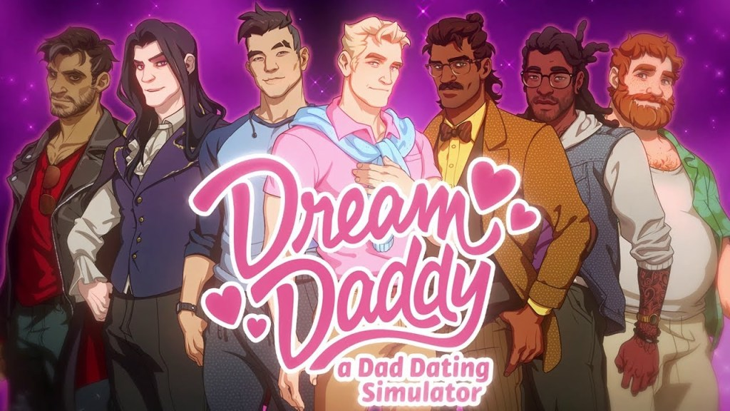 Screenshot from Dream Daddy: A Dad Dating Simulator. Dream Daddy, Game Grumps, 2017.