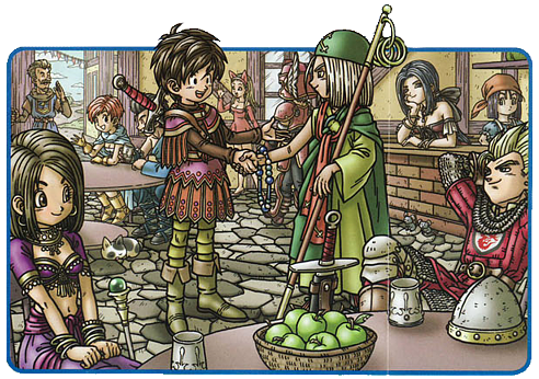 Official art for Dragon Quest IX by Akira Toriyama. Developed and published by Square Enix, 2009.