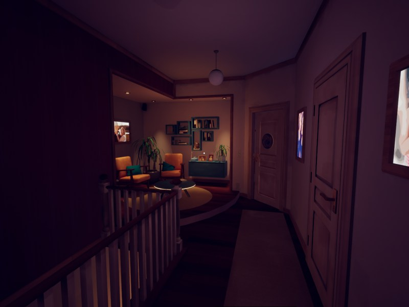 The opening hallway in Marie's old home. Marie's Room, Kenny Guillaume & Dagmar Blommaert, 2018