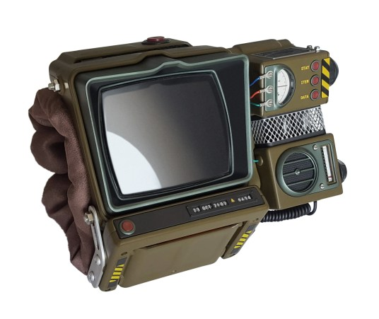 The Pip-Boy 2000. Image from THINKGEEK.com https://www.thinkgeek.com/product/ktgg/