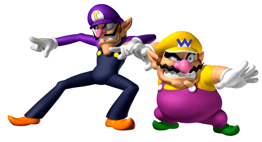 Wario and Waluigi as they appear in Mario Party DS. Mario Party DS, Hudson Soft, Nintendo, 2007.