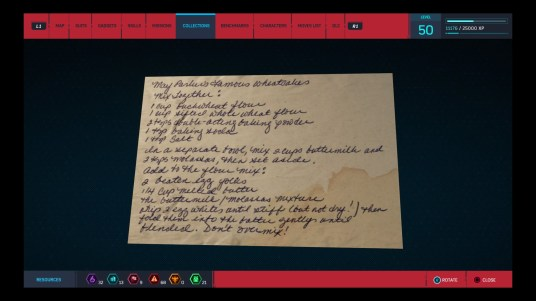 A screenshot of the stained, handwritten recipe card.
