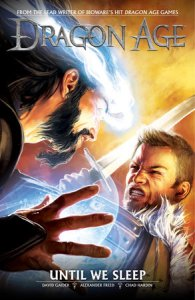 Cover of Until We Sleep. Written by David Gaider and Alexander Freed, illustrated by Chad Hardin, Dark Horse Comics, March 2013.