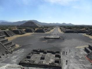 Teotihuacàn, Piramide de la Luna y Calzada de los muertos, Messico