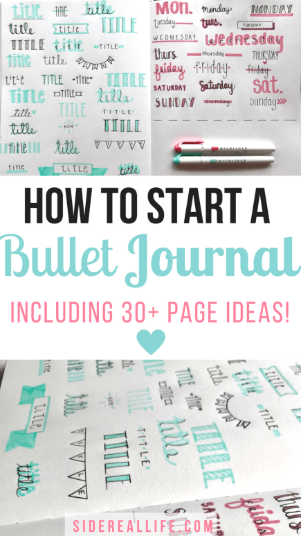 The ultimate bullet journal guide for beginners!  How to pick the right supplies, perfect your layouts and spreads, and organize all of your day-to-day activities.  Plus, over 30 ideas on your next bullet journal page!
