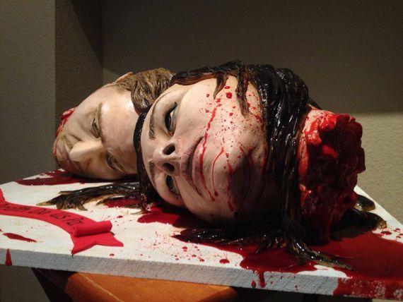 Severed Head Wedding Cake