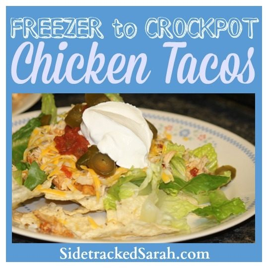 Freezer to Crockpot- Chicken Tacos