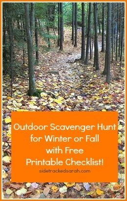 A Scavenger Hunt for Fall or WInter