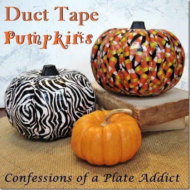 Duct Tape Pumpkin