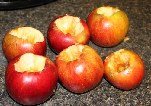 Cored Apples for Slow Cooker