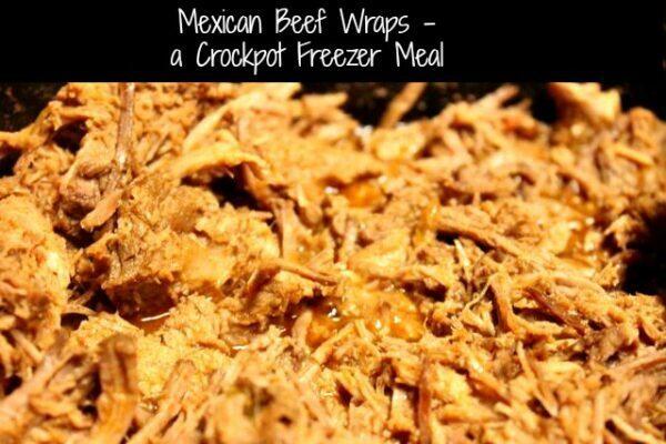 Mexican Beef Wraps - a Crockpot Freezer Meal by SidetrackedSarah.com
