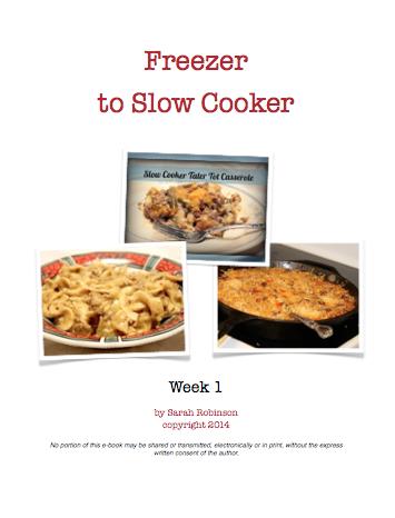 Crockpot Freezer Meals Week 1